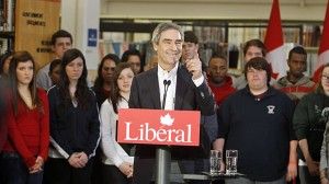 Liberal Leader Michael Ignatieff speaks Tuesday at Sheridan College in Oakville, Ont., where he announced a $1 billion program for post-secondary students.