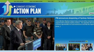 The home page for the website of Canada's Economic Action Plan is shown on Wednesday Jan. 5, 2011.