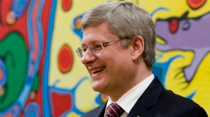 Prime Minister Stephen Harper smiles during a swearing-in ceremony at Rideau Hall in Ottawa, Wednesday May 18, 2011. (Adrian Wyld / THE CANADIAN PRESS)