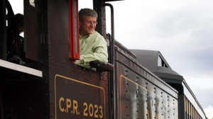 Prime Minister Stephen Harper said the days of the Liberals are over 'like disco balls and bell bottoms.'