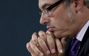 Treasury Board President Tony Clement is in charge of trimming budgets across government departments. He's shown here Aug. 4 announcing the creation of an agency to streamline government computer systems.